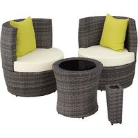 Tectake Nizza Lounge-Set grau