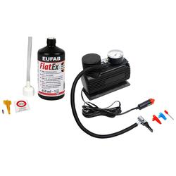 EUFAB Reifen-Reparaturset, inkl. Kompressor schwarz Autopflege Autozubehör Reifen Reifen-Reparaturset