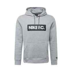 NIKE Herren Sweatshirt 'F.C.' weiß / grau / schwarz