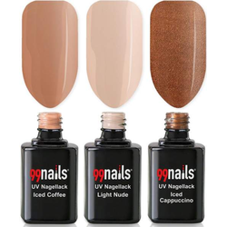 UV Nagellack Set - Coffee Love 12ml - Gel Nagellack Set UV Lack Set Nagellack Gel UV Gel Nagellack Led Nagellack Farben Nude Beige Creme