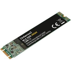 Intenso M.2 SSD High SSD-Festplatte (120 GB) 520 MB/S Lesegeschwindigkeit, 480 MB/S Schreibgeschwindigkeit) 120 GB
