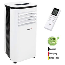 KORONA Ventilatorkombigerät Iceberg 9.0 Eco 82001, 3in1 Klimagerät, Klimaanlage, Ventilator, Entfeuchter, Mobile Klimaanlage 9000 BTU, LCD Fernbedienung, weiß