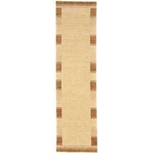 Läufer GABBEH FEIN LUXO, morgenland, rechteckig, Höhe 18 mm, reine Schurwolle Bordüre beige