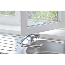 Einhebel Küchenarmatur Spüle Wasserhahn für Unterfenster Montage