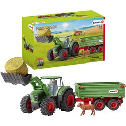 Schleich Spielzeug-Traktor Farm World, Traktor mit Anhänger (42379) (Set) bunt Kinder Ab 3-5 Jahren Altersempfehlung Spielzeugfahrzeuge