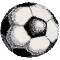 "Knüpf-Formteppich ""Fussball"", Ø 70 cm"