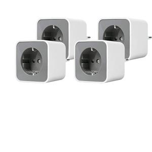 LEDVANCE Smart+ Plug, ZigBee schaltbare Steckdose, für die Lichtsteuerung in Ihrem Smart Home, Direkt kompatibel mit Echo Plus und Echo Show (2. Gen.), Kompatibel mit Philips Hue Bridge, 4er Pack