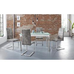 Essgruppe Nelson/Cosy, (Set, 5-tlg), mit 4 Stühlen, Tisch ausziehbar, Breite 140-200 cm weiß