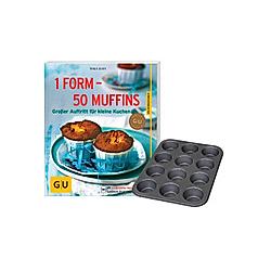 1 Form - 50 Muffins, mit Muffin-Blech