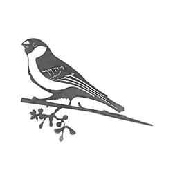 Dehner Dekoobjekt Baumstecker Glücksvogel Dompfaff, 32 x 43 x 1.5 cm