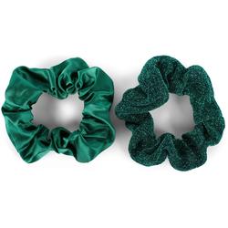 styleBREAKER Haargummi 2-Teiliges Scrunchie Haargummi Set, 2-tlg., 2-Teiliges Scrunchie Haargummi Set grün