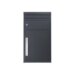 SafePost Briefkasten Paketbriefkasten SafePost 45M anthrazit-grau (Ral 7016) Design-Paketkasten modern