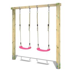 Wickey Doppelschaukel Schaukelgestell Aero Star - Schaukel, Schaukelgerüst, Kinderschaukel, Holzschaukel rosa