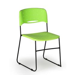 Plastikstuhl square square, schwarz/grün, 3+1 gratis