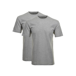 RAGMAN Unterhemd Herren T-Shirt 2er Pack - 1/2 Arm, Unterhemd, grau 3XL