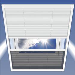Insektenschutz & Sonnenschutz Plissee, 114 x 160 cm für Dachfenster