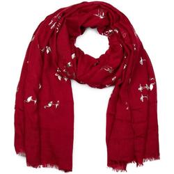 styleBREAKER Schal Schal mit Metallic Flamingo Print Schal mit Metallic Flamingo Print rot