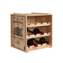 BUTLERS Weinregal VINOTHEK Weinregal, Weinschrank in Natur - Weinkiste aus Tannenholz - Flaschenregal, Holzregal, Weinständer