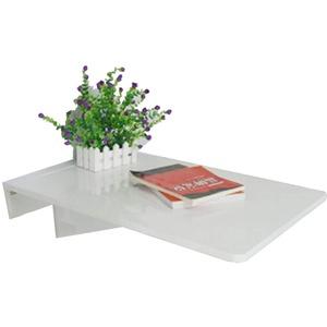 LIANGLIANG Wandklapptisch Schreibtisch Wandklapptisch Klapptisch Multifunktions-Esstisch Bartheke Aus Holz (Farbe : Weiß, größe : 70x45cm)