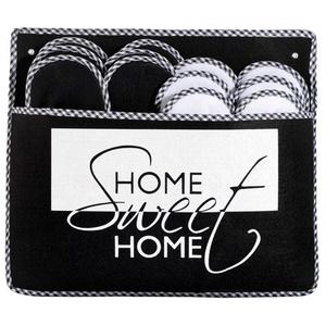 ONVAYA ABS Gästepantoffel Home Sweet Home, 6er Set, Antirutsch, Hausschuhe, Gästeschuhe Pantoffel