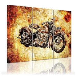 Bilderdepot24 Leinwandbild, Leinwandbild - Motorrad Vintage 150 cm x 90 cm