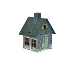 Crottendorfer Räucherhaus 2192, Spielzeugmacher, Räucherhäuschen aus Metall für Standardräucherkerzen