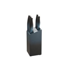 Michelino Messer-Set Messer-Set 6-teilig inkl. Holzblock (Messerset, 6-tlg) blau