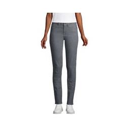 Farbige Straight Fit Jeans Mid Waist in Petite-Größe, Damen, Größe: 34 28 Petite, Blau, Denim, by Lands' End, Schieferstein - 34 28 - Schieferstein