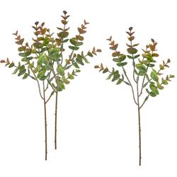 Kunstpflanze Eukalyptus Bendigo, VBS, 3 Stück, 40 cm grün