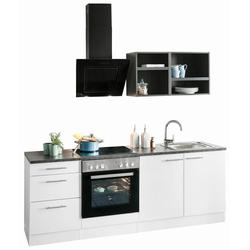 OPTIFIT Küchenzeile Mini, ohne E-Geräte, Breite 210 cm grau