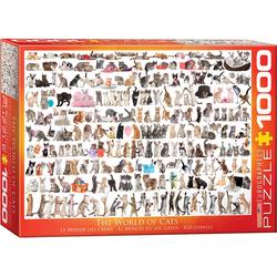 empireposter Puzzle Katzenwelt - Katzen - 1000 Teile Puzzle Format 68x48 cm, 1000 Puzzleteile