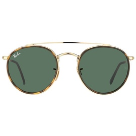 Ray Ban Round Double Bridge RB3614N 001 51-22 gold/green classic