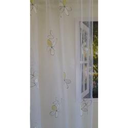 Stores Gardinen Stoff Vorhang Ausbrenner Blume weiß grün transp, Meterware