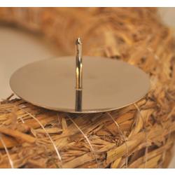 Metall-Kerzenteller, silber, Ø 50 mm, Stabiler Kerzenhalter aus Metall, 1 Beutel = 4 Stück