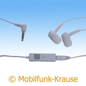 Headset Stereo In Ear Kopfhörer f. Microsoft Lumia 950 XL Dual (Weiß)