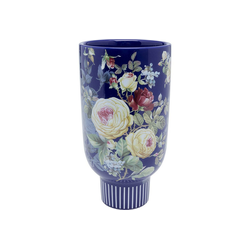 KARE Dekovase Deko Vase Blooming Blau 27
