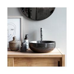 Tikamoon Waschbecken Waschbecken aus Marmor Pia dark grey