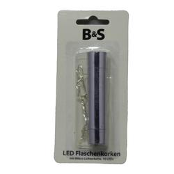Flaschenkorken aus Metall mit einer Mirko Lichterkette 10 LED