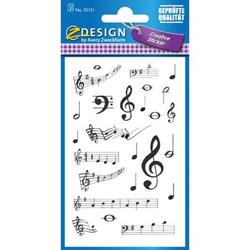 Sticker 76x120mm Papier 3 Bogen Musik Noten