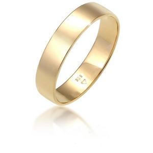Elli Premium Ring-Set Bandring Trauring Basic Hochzeit Paar 585 Gelbgold, Bandring 60
