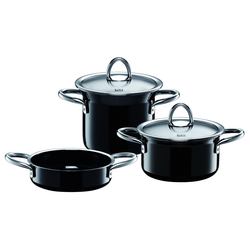 Silit Topf-Set 3-teilig miniMAX Silargan Black