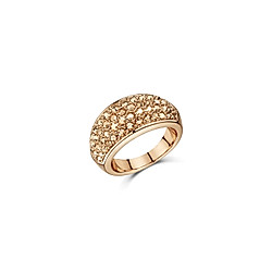 Buckley London Ring Messing Kristall champagner Glänzend (Größe: 058 (18 5))
