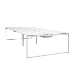 Schreibtisch Pop Bench Square weiß, 74x360x165 cm
