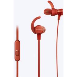 Sony MDR-XB510AS Sport In Ear Kopfhörer In Ear Wasserbeständig, Schweißresistent Rot