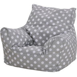 Knorrtoys® Sitzsack Dots, grey, für Kinder; Made in Europe