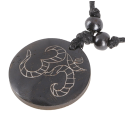 Guru-Shop Perlenkette Ethno Amulet, Tibet Halskette, Tibetschmuck - OM