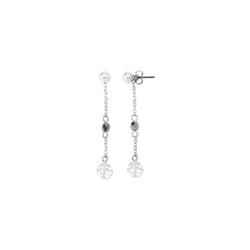 Ohrhänger verziert mit Glasperlen und Glaskristallen