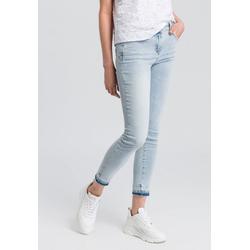 MARC AUREL 5-Pocket-Jeans mit Waschspuren am Saum 46