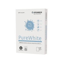 STEINBEIS Recyclingpapier Pure White, Format DIN A4, 80 g/m²