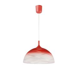 Licht-Erlebnisse Pendelleuchte ADANIA Pendelleuchte Glas Rot rund retro Küche Esszimmer E27 Lampe